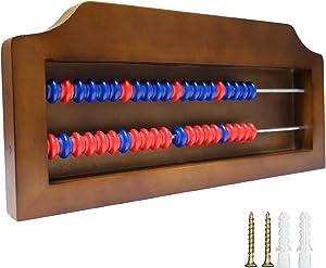 Shuffleboard Scoreboard Solid-Wood Score System for Table Shuffleboard Games, Wall Mounted Shuffleboard Score Keeper with Cabinet