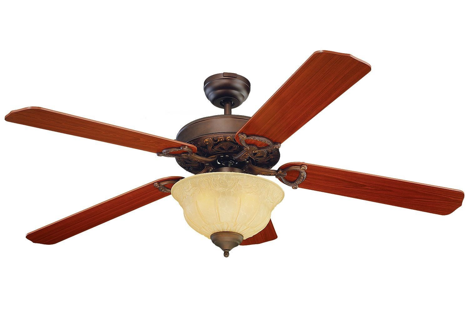 Monte Carlo 5OR52EPD-L, Ornate Elite Ceiling Fan with Light, 52 ...