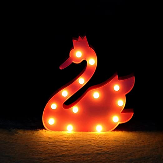 1f382fd8b98 Swan Shape Night Light - XIYUNTE Pink Swan Wall Lamps Home Decor Children's  Night Lights Warm White Marquee Ligths Room Decor Battery Powered Bedside  ...