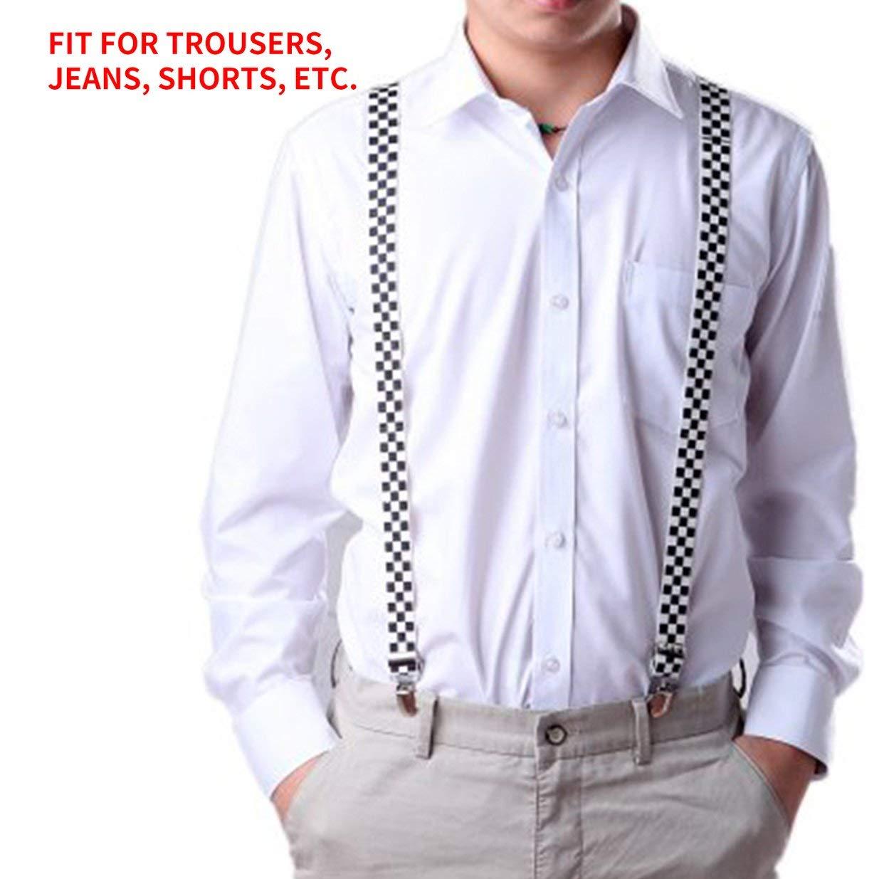 Sairis Unisex Mujer Hombre Forma Y Tirantes con Clip el/ásticos Correa Pantalones Tirantes Tirantes Ajustables Adulto 3 Clip Tirante Correa para el cintur/ón