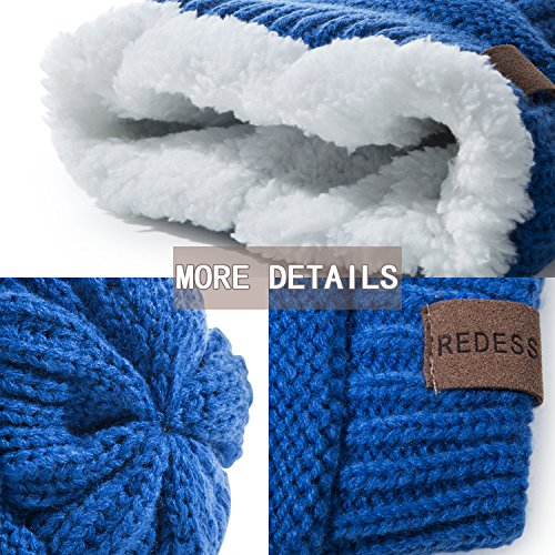 REDESS Baby Boy Winter Warm Fleece Lined Hat, Infant Toddler Kids Beanie Knit Cap for Girls and Boys [0-3years] by REDESS (Image #2)