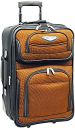 Travel Select Amsterdam Expandable Rolling Upright Luggage, Orange, Carry-on 21-Inch