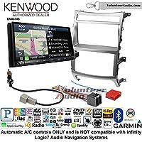 Volunteer Audio Kenwood DNX874S Double Din Radio Install Kit with GPS Navigation Apple CarPlay Android Auto Fits 2007-2012 Hyundai Veracruz (Automatic A/C controls)