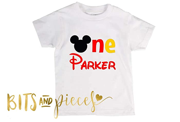a055e144a Amazon.com: Mickey Mouse First Birthday | Boy Birthday | Disney - T-shirt:  Handmade