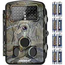Neewer 1080P 12MP HD Digital Trail Camera 2.4 inches LCD Display, 42 IR LEDS, 120 Degree Wide Angle Night Vision, Waterproof Dustproof for Hunting Scouting Surveillance with 8 Pack AA Batteries