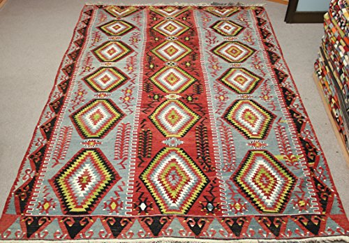 Decorative Vintage Kilim rug 10.1x6,1 feet Area rug Old Rug Bohemian Kilim Rug Floor rug Sofa Decor Rustic Kilim Rug