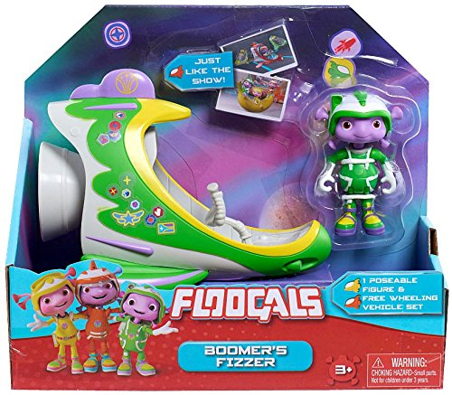 Floogals boomers fizzer figure with vehicle set: amazon.it: giochi