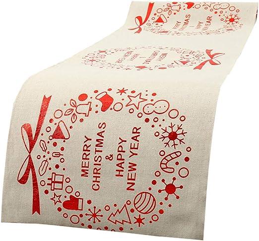 Surfmalleu Camino de Mesa de Navidad Tapetes Mantel Navidad Mesa ...