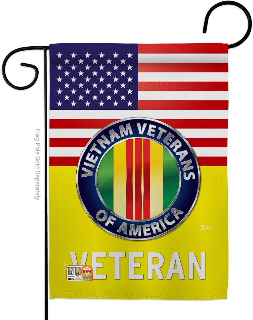 US Vietnam War Garden Flag - Armed Forces Service All Branches Support Honor United State American Military Veteran Official - House Banner Small Yard Gift Double-Sided Made in USA 13 X 18.5