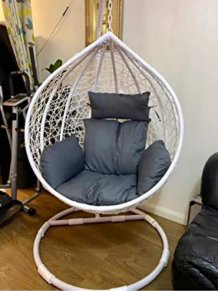 Chair Hanging Rattan Swing Patio Garden Weave Egg with Cushion in or Outdoor