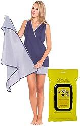 01dc33ee04cac Olian Bundle:2 Items Maternity Nursing Short PJ Set & Bella B Breastwipes