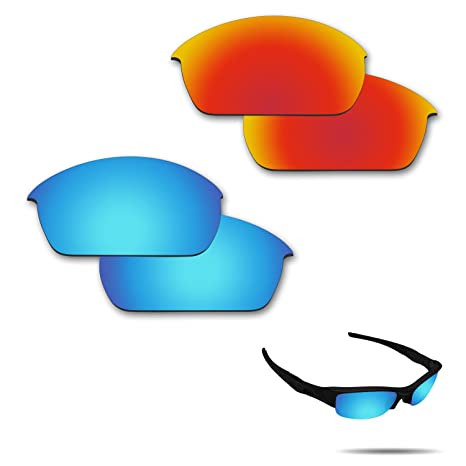 2d8a086da0 Amazon.com   Fiskr Anti-Saltwater Polarized Replacement Lenses for Oakley  Flak Jacket Sunglasses 2 Pairs Packed   Sports   Outdoors
