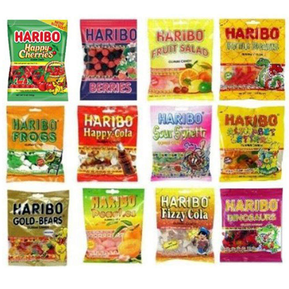 Haribo Gummy Gummies Candy Assorted Variety (Pack of 12) by Haribo