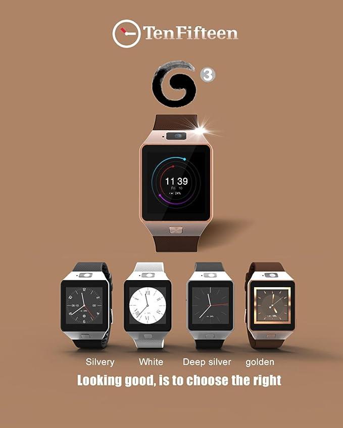 Smart Watch Pulsera Inteligente 512MB / 4GB Bluetooth 4.0 Real-Podómetro Tarjeta SIM Llamada Anti-perdida Smartwatch PK DZ09 GT08 3G WIFI QW09 Android ...