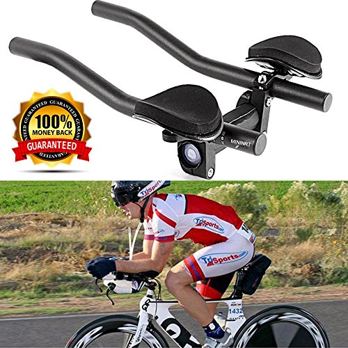 VAQM Bike Aero Bars Cycling Aero Bars Bike Rest Handlebar Bicycle TT Handlebar Bike Tri Bars Mountain Bike Road Bike (Put Road Bike Handlebars On Tri Bike)