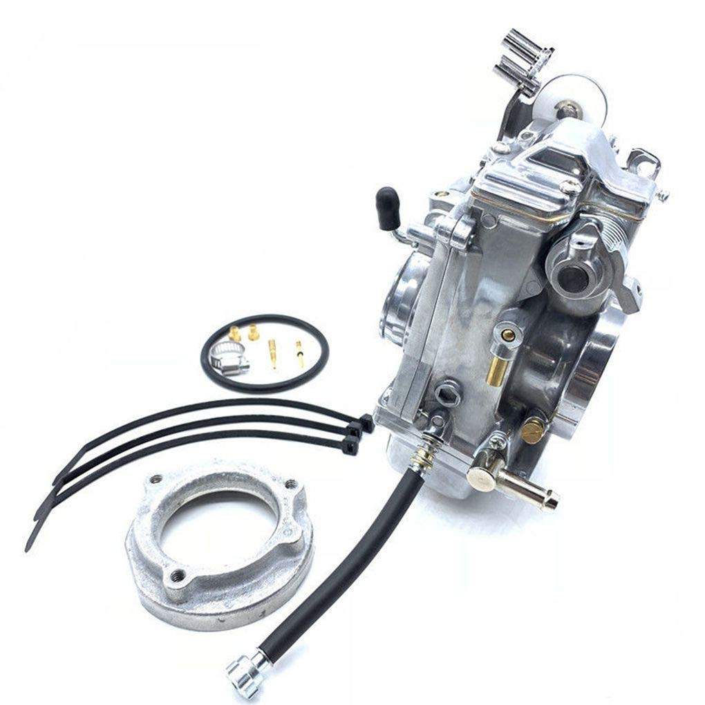 Topker Motorcycle Engine HSR42mm Carburetor Replacement for Davidson Evo Twin Cam TM42 90-96 883 by Topker (Image #7)