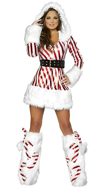 Shangrui Donna Costumi Cosplay Rosso Natale Maniche lunghe Con la cintura  Palcoscenico Vestito  Amazon.it  Abbigliamento 493edeeb2d7