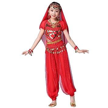 Maguun Conjunto de Traje de Danza del Vientre Vestido de ...