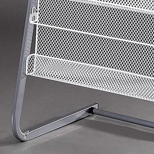 Magazine Rack Aluminum Alloy Brochure Display Rack Book Data Ladder Storage Rack - 4 Layers W63xH140cm by Amelie AI-Magazine organizer (Image #2)
