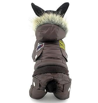 ranphy perro gato traje de nieve frío abrigos Airman Mono de forro polar abrigo de invierno resistente al agua, para perros cachorro en kg ((it s Run ...