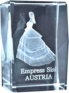 Sissi Kaiserin - Vitrina decorativa de cristal en 3D (tamaño XL, en formato vertical)