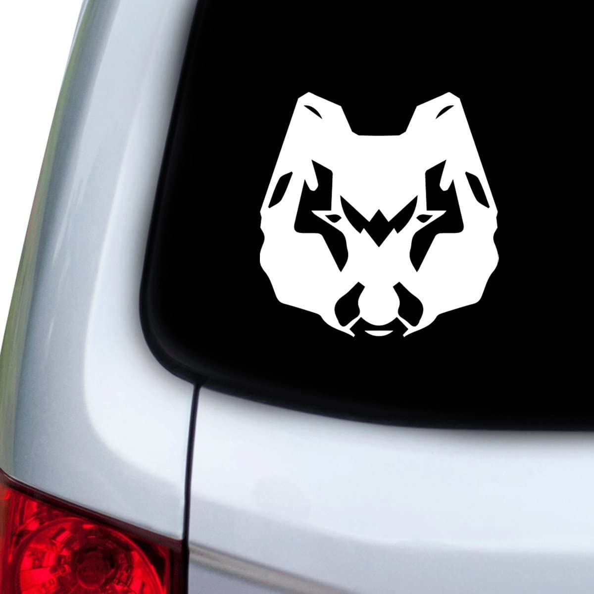 StickAny Car and Auto Decal Series Wolf Dog Modern Sticker for Windows Red Doors Hoods