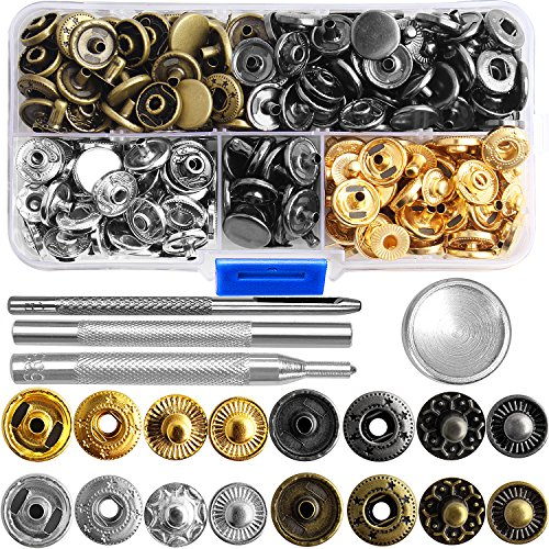 r Kit Button Tool Press Studs Fastener Snap on Set Clothing Snaps Kit Fixing Tool (633(12.5mm)) by Outee ()