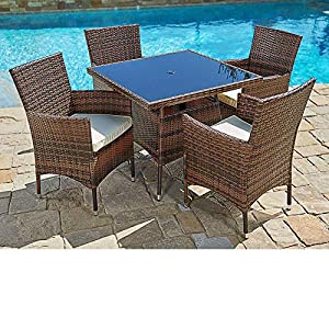 61lME7XUrrL._SS300_ Wicker Dining Tables & Wicker Patio Dining Sets