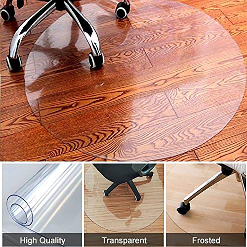 Home Cal Chair or table mat for Carpet Floors(Floor Protection Mat), Round and Transparent,Multi-sizes - Box Wellco