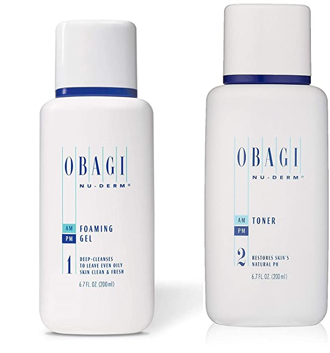 Obagi Medical Nu-Derm Foaming Gel And Obagi Nu-Derm Toner
