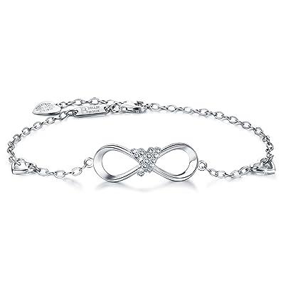 Amazon Billie Bijoux 925 Sterling Silver Infinity Heart Endless