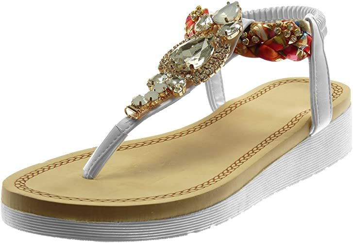 Angkorly Chaussure Mode Sandale Tong Slip on Plateforme