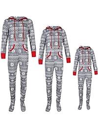 Womens Onesie Pajamas,Family Matching Holiday Long Sleeve Spring Hoodie Sleepwear