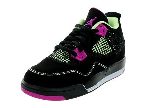 23cd6f5bed3625 Nike Jordan Kids Girls 4 Retro Ps Black Fushsia Flash Lqd Lm Wht Basketball  Shoe 11.5 Kids US  Buy Online at Low Prices in India - Amazon.in