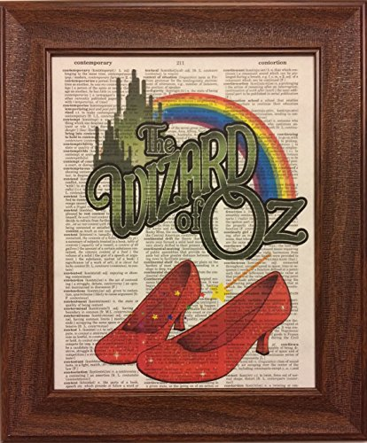 (Wizard of Oz Children's Movie Dictionary Book Page Artwork Print Picture Poster Home Office Bedroom Kitchen Wall Decor - unframed)