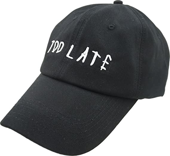 37e21a4f50999 FGSS Mens Too Late Embroidery Adjustable Strapback Dad Hat Baseball Cap  (Free