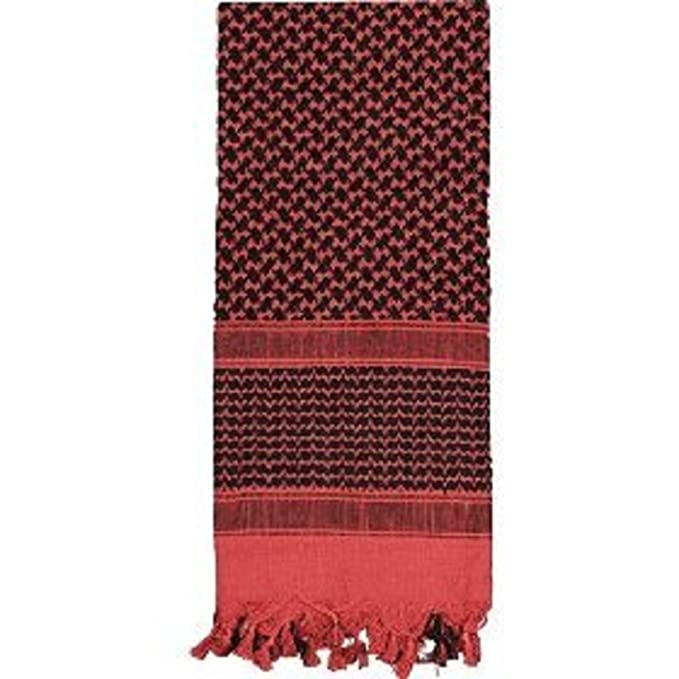 Amazon.com  8537 SHEMAGH TACTICAL SCARF - Red Black 8537  Clothing 334a34970e