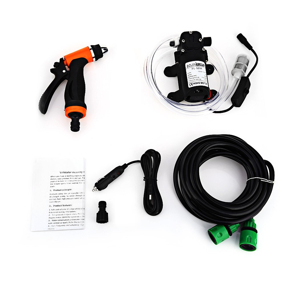 36W 12V High Pressure Cleaning Pump Car Washer - BLACK