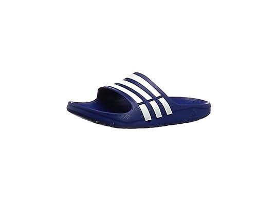 adidas Duramo Slide, Chanclas Unisex, Azul (New Navy/White/New Navy