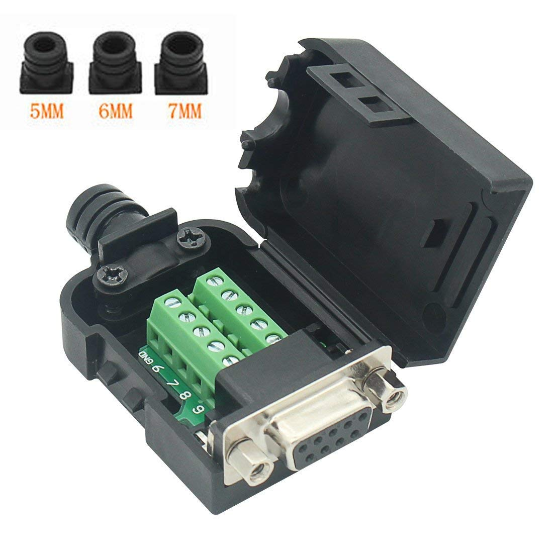 2 PCS Female Adapter Connector DB9 RS232 D-SUB Serial Adapters