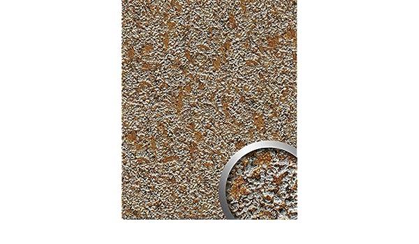 Panel decorativo WallFace 14805 LAVA Autoadhesivo de diseño piedra y efecto metal color gris roca y cobre 2,60 m2: Amazon.es: Bricolaje y herramientas