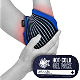 Gelpacksdirect Reusable Hot/Cold Gel Ice Pack with Elbow Compress - Tennis/Golf/Sports Injuries