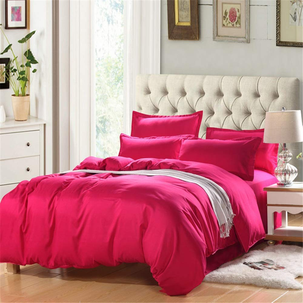 XiYunHan Simple Solid Color Quilt Set of Four Sets, Casual Country Style Bedding.
