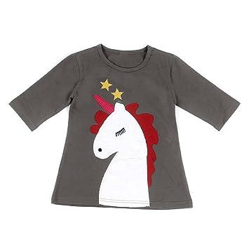 Yosemite familia a juego camiseta madre y hija de unicornio manga larga ropa, As picture