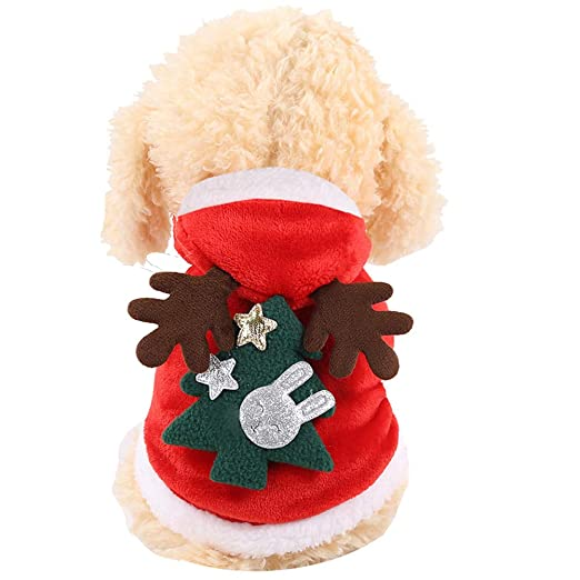 PET HOUND Disfraz De Mascota De Navidad Traje De Perro con Gorro ...