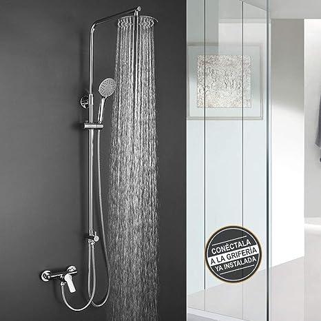 Columna de ducha SIN GRIFERÍA extensible de 80 a 120 cm. Se ...
