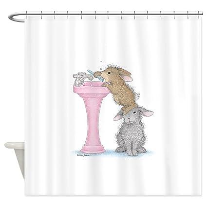 Amazon CafePress Bunny Lift Decorative Fabric Shower Curtain