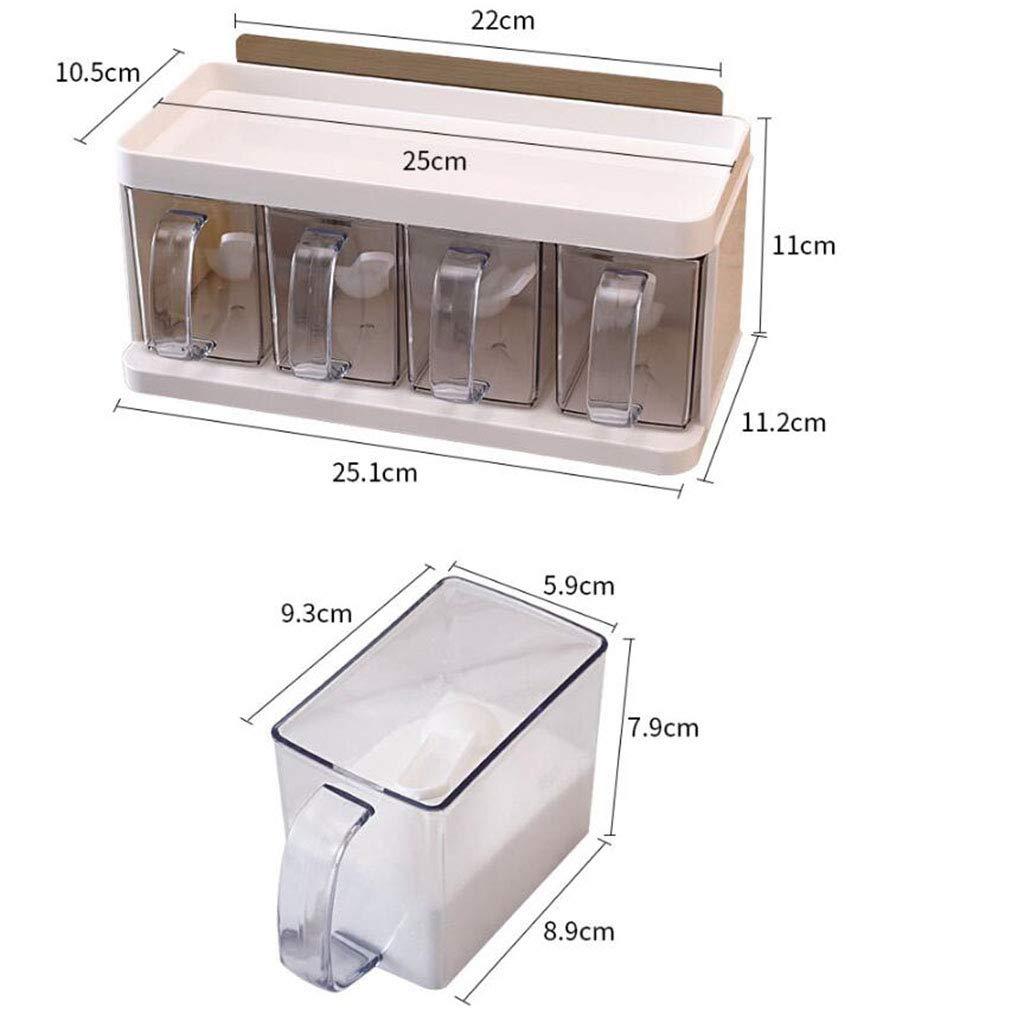 4 Schubladen Typ nehmen K/üchen Gew/ürzregal frei Stanzen Wand h/ängen Regal Gew/ürzkasten
