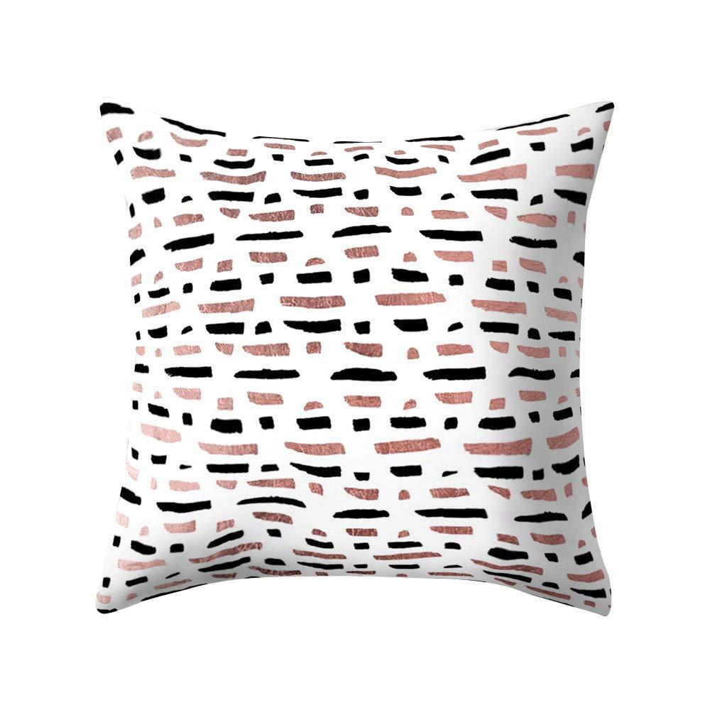 A Lisin 18x18 Rose Gold Pink Home Cushion Pillows Cover Square Pillowcase Home Decoratio