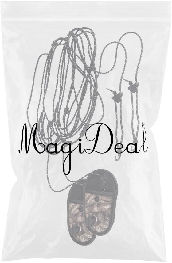 MagiDeal Lot 2pcs 2-Fil Corde /à Linge S/échoir Robuste 3.2m pour Camping Voyage avec Sac Camouflage